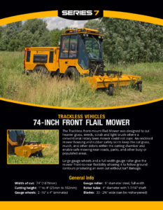 thumbnail of Trackless 74-inch Flail Mower